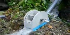 Generator powered by water