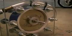 A Tesla bladeless turbine
