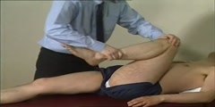 Video of  a hip exam