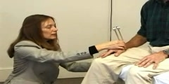 Neurological examination of a patient