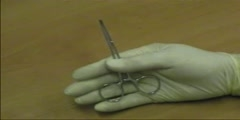 Method of holding the forceps